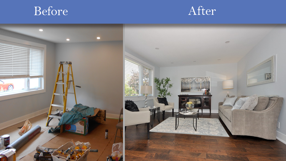Staging homes before and after home staging pictures home for Staging before and after
